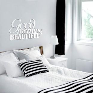 Good morning beautiful - napis dekoracyjny na ścianę 3d