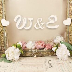 Inicjały na ślub - litery dekoracyjne 3D
