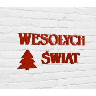 Wesołych Świąt - napis ze styroduru