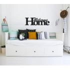 Welcome home - napis dekoracyjny na ścianę