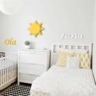 Imię dziecka - dekoracyjne literki na ścianę