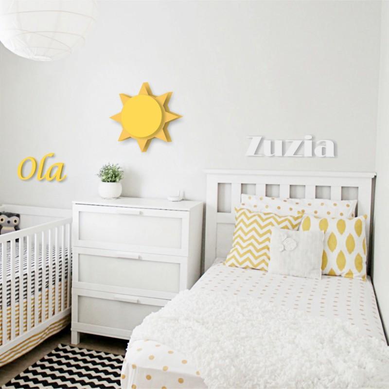 Groovy imię dziecka - literki dekoracyjne TH94