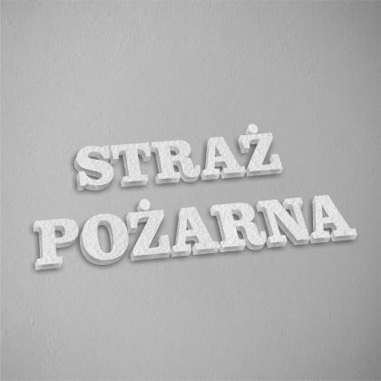 STRAŻ POŻARNA - litery 3D