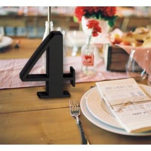 Numer na stół ze styroduru