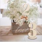 Numer na stół ze sklejki
