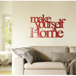 Make yourself at home - napis dekoracyjny z plexi