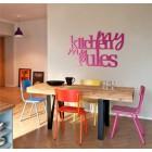 My kitchen my rules - napis dekoracyjny z plexi