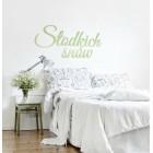 Słodkich snów - napis dekoracyjny z plexi