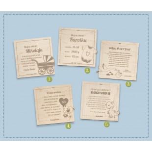 Tabliczka okolicznościowa dla dziecka