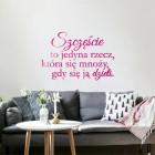 Szczęście to jedyna rzecz... - napis dekoracyjny z plexi