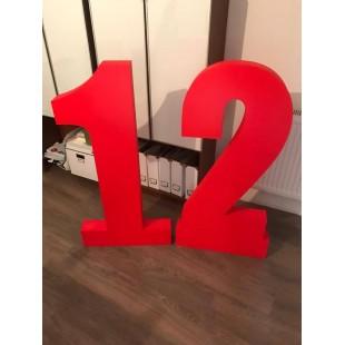 Litera 3D ze styroduru na ścianę litery styrodruk