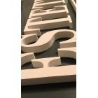 3D litery dekoracja styropian napisy