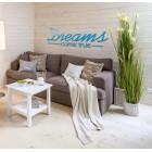 Dreams come true - napis dekoracyjny na ścianę 3d