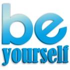 Be yourself - napis dekoracyjny na ścianę 3d