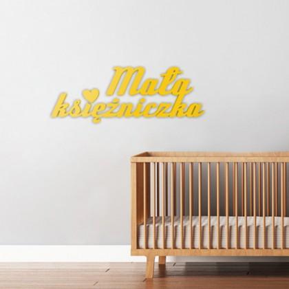 Mała księżniczka - napis dekoracyjny na ścianę 3d
