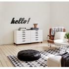 Hello! - napis dekoracyjny na ścianę 3d