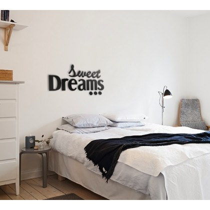 Sweet Dreams Napis Dekoracyjny Na ścianę 3d