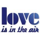 Love is in the air - napis dekoracyjny na ścianę 3d