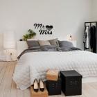 Mr Mrs - napis dekoracyjny na ścianę 3d