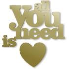 All you need is love - napis dekoracyjny na ścianę 3d