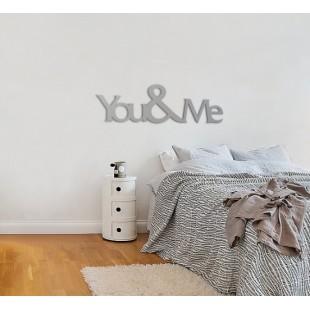 You&me - napis dekoracyjny na ścianę 3d