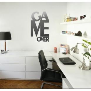 Game over - napis dekoracyjny na ścianę 3d