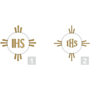 Hostia - dekoracja komunijna ze styropianu