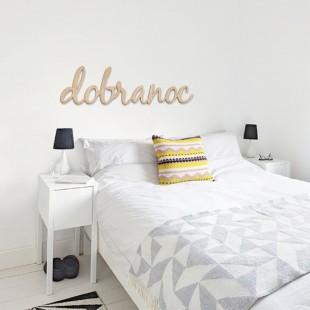 Dobranoc - napis dekoracyjny na ścianę 3d