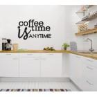 Coffee time is anytime - napis dekoracyjny na ścianę 3d