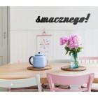 Smacznego! - napis dekoracyjny na ścianę 3d