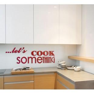 Let's cook something - napis dekoracyjny na ścianę 3d