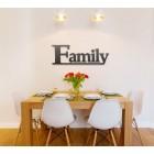 Family - napis dekoracyjny na ścianę 3d