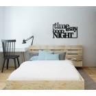 Time to say good night - napis dekoracyjny na ścianę 3d